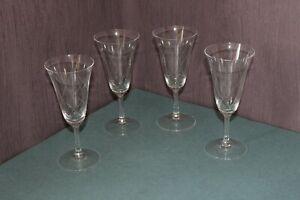CB1-9) 4x Glas Cocktail Wein Sekt Gläser geschliffen Bar Tasting Theke H:15,5cm