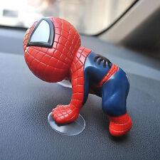 Car Mirror Windshield Dashboard Spiderman Doll Suction Cups Plastic Decoration
