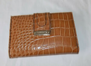 Beautiful Liz Clairborne Brown Faux Croc Wallet