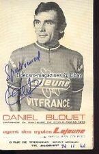 DANIEL BLOUET cyclisme Autographe lejeune ciclismo vélo