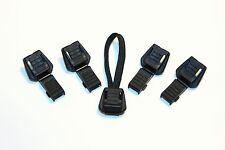 5 x Zip Cord Ends,Black Plastic,Tether Tips,DofE,SIA
