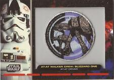 "Star Wars Galactic Files - PR-11 ""AT-AT Driver"" Embroidered Patch Relic Card"