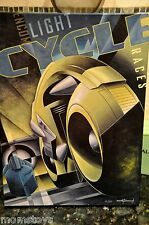 TRON LIGHT CYCLE RACES CANVAS GICLEE HAND TEXTURED LE 50 SIGND BY MIKE KUNGL #42