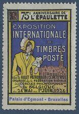 BELGIQUE VIGNETTE Exposition philatélique Bruxelles 1924 LABEL CINDERELLA