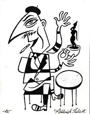 "ORIGINAL ""BEAT SPEAK"" ARTWORK ASHLEIGH TALBOT BEATNIK HIPSTER ""TO BE HIP"""