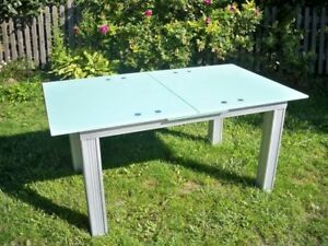 Glass Table Dining Room Table Extension Table