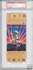 Super Bowl 27 (Cowboys 52 Bills 17) full unused game ticket graded PSA 8 NrMt-Mt