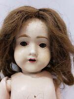 "Antique Art Craft 1918 - 1921 Composition Wood Doll 20"" Hair Wig Teeth NEEDS TLC"