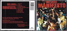 CD 10 TITRES ROXY MUSIC (BRYAN FERRY) MANIFESTO DE 1984 UK TBE