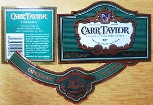 Etiquettes vin UNITED KINGDOM CARR TAYLOR Dry Sparkl  English Table Wine Labels