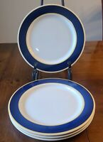Set of 4 Fusions Sapphire & Honey Dinner Plates Nancy Calhoun EUC