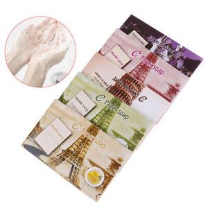 15pcs Disposable Boxed Soap Portable Mini Paper Soap Travel Soap Paper Hand Wash
