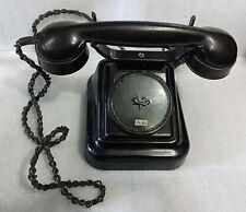 Rare 1920's Vintage Antique Soviet USSR Old Desk Black Phone Telephone Bakelite