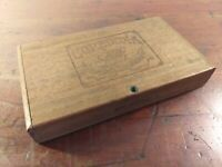 Collectable Vintage Wooden Coredoxa Cigar Box with Hinged Lid