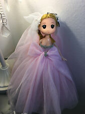 "Brand New 10"" Asian Korean Ddung Confused Pink Bridal Anime Doll (Keychain)"
