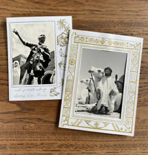 2 Vintage Christmas Cards Greetings from Morocco Camel Street Vender Photographs