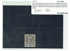 More details for v287 gb qv 1867 classic stamp £1 brown-lilac sg129 c£4500+ superb cds dublin ej