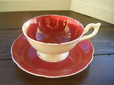coalport china cup and saucer  wine colour