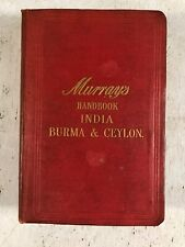 Murray's Handbook India Burma & Ceylon Vintage / Antique Travel Book