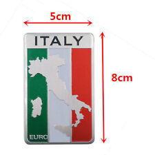 1pcs Italy Italian Flag 3D Logo Emblem Metal Alloy Badge Car Auto Decor Sticker