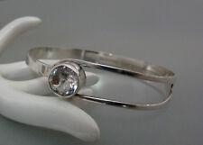 Finland E. Granit Bergkristall Armband Armreif 925 Silber silver bracelet bangle
