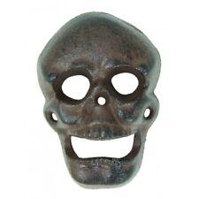 New Cast Iron Figural Skeleton Skull Bottle Cap Wall Mount Beer Pub Bar Opener