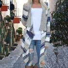 Women Ladies Knitted Open Jumpers Long Sleeve Cardigan Shawl Sweater Coat Tops J