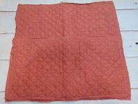 Set Of 2 Pottery Barn Belgian Flax Linen King Pillow Shams Brick Red 38 x 22
