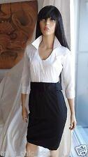 STUNNING ASOS black and white career blouse skirt dress UK8 US 4