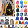 Girls Drawstring Gym Bags School Swimming Travel Holiday PE Sports Shoe Backpack