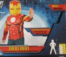 Avengers Iron Man Muscle Costume Top Mask Marvel Comics Small 4-6 New BOX 31529