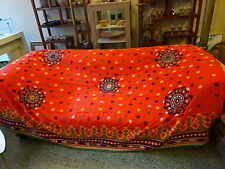 Exquisite Vintage Rabari Embroidery Rajasthan Shawl Textile India
