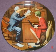 Knowles American Fine China THE PROFESSOR By Norman Rockwell