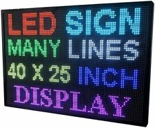 40x25 Inch Led Rgb 7 Color Wifi Indoor Outdoor Programmable Scrolling Sign