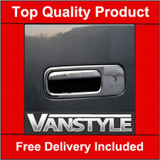 VW T5 TRANSPORTER CARAVELLE CHROME TAILGATE DOOR HANDLE COVER REAR STAINLESS
