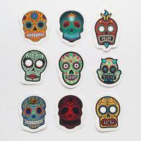 9 x Sugar Skull Sticker Set Vinyl Decal Car Bike Laptop Mexico Day Dead Calavera