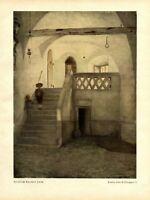 In einem Bozener Haus Kunstdruck 1923 Franz von Defregger * Stronach Bozen Tirol