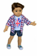 Union Jack Band Outfit Fits 18 Inch American Girl Logan Boy Doll Clothes