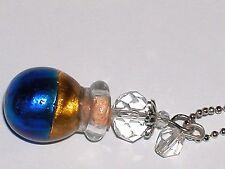 1pc Murano Swirl Color Glass oil perfume bottle cork pendant vial Necklace