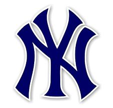 "New York Yankees ""NY""  Decal / Sticker Die cut"