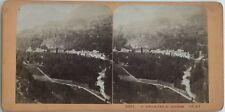 St. Sauveur pris de Solférino Photo Jean Andrieu Stereo Vintage Albumine