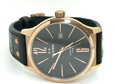 TW Steel Slim Rose Gold 45mm Watch TW1303  / Black Leather (49E)