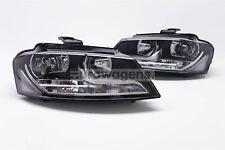 Audi A3 08-12 Headlights Headlamps Pair Set Driver Passenger Left Right