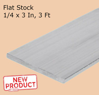 Aluminum Bar Flat Stock 1/4 Inch x 3 Inch x 3 Ft 36 Inch Long Unpolished Alloy