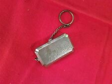 UNIQUE~~Antique Silver plated Coin Holder key chain~~Nickel & Dime Holder!