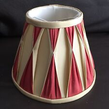 """Original Laura Ashley Pure Silk & Fully Lined 5"""" Pinched Pleat Lamp Shade"""