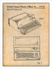 Steve Jobs Apple Personal Computer 1983 Patent Print Art Drawing Poster 18X24