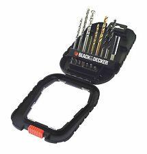 Black and Decker 16 Piece Accessory Drill Bit set Brand New