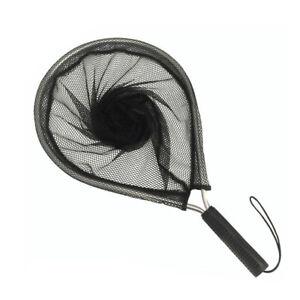 Aluminum Alloy Handle Fly Fishing Landing Net Trout Net Catch Fishing Tool Black