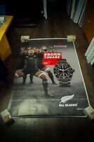 TUDOR WATCH ALL BLACK 4x6 ft Shelter Original Fashion Luxury Advertising Poster